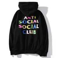 Anti Social Social Club Fashion Print Pullover Hoodie Top Sweater ASSC