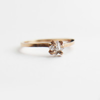 Rugged Princess Cut Upside Down Diamond Solitaire Ring