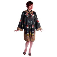 Antique Womens Chinese Coat Robe Embroidered Magnificent
