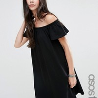 ASOS TALL Off Shoulder Mini Dress at asos.com