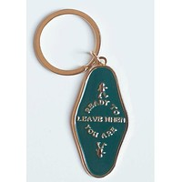 Ready To Leave When You Are Keychain