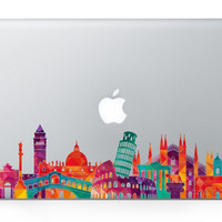 Hot Sale Laptop Famous City Sight Landmark Skins For MacBook Air Pro Retina Sticker Vinyl Partial Decal For Apple Logo Sticker