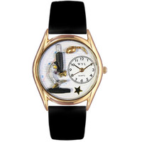 Science Teacher Watch Small Gold Style