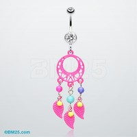 Enchanted Loop Dream Catcher Belly Ring