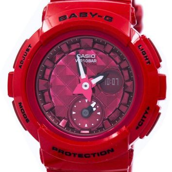 Casio Baby-G Shock Resistant World Time Analog Digital BGA-195M-4A BGA195M-4A Women's Watch