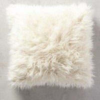 Shag Puff Pillow by Anthropologie