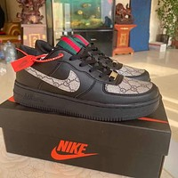 NIKE Air force 1 Af1 GG men's and women's letter printed logo low-top sneakers Shoes