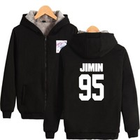 KPOP BTS Bangtan Boys Army  K-pop Love Yourself Thicker Hoodie Sweatshirt Zipper Hoodies Sweatshirt Cool And Fashion Clothes Big Size 4XL AT_89_10