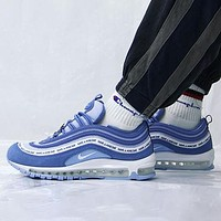 Nike Air Max 97 Smiley Series Fashion Men's and Women's Casual Sports Shoes Full Palm Air Cushion Jogging Shoes