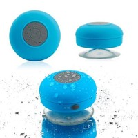 Mini Wireless Portable Shower Car Waterproof Bluetooth Handsfree Mic Speaker with Suction Cup - Blue - Walmart.com