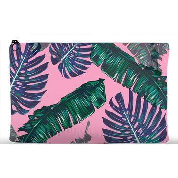 Pink and Palms Accessory Pouch