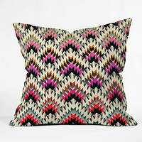 Pattern State Peaks Throw Pillow