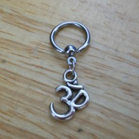 Ohm Symbol Captive Bead Ring - Belly Button Ring, Nipple Ring, Cartilage - Body Jewelry