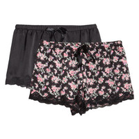 2-pack pyjama shorts - from H&M