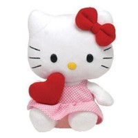 Ty Beanie Baby Hello Kitty with Heart