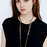 Reflective River Choker Necklace- Gold One