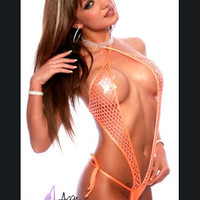 Metallic Net Exotic Sling Shot Stripper Wear