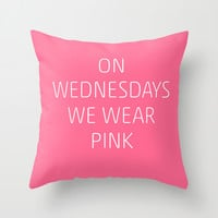 Mean Girls #8 – Pink Throw Pillow by Enyalie