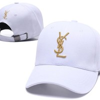 YSL Women Men Embroidery Sports Sun Hat Baseball Cap Hat