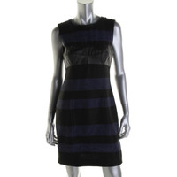Rachel Roy Womens Boy Meets Girl Knit Contrast Trim Casual Dress