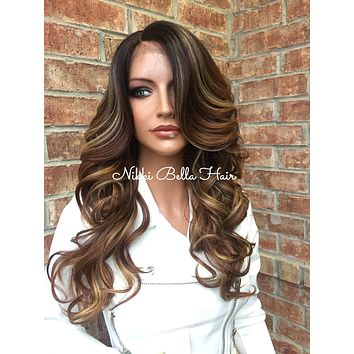 Memphis Multi tone Highlights Lace Front Wig 18""