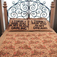 Burlap Pillowcase- La Dispute set