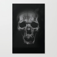 The Skull Stretched Canvas by Deadly Designer