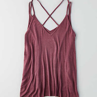 AEO Strappy V-Neck Jegging Cami, Orchid Bouquet