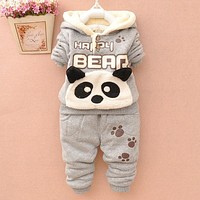 New Baby Boy and Girl Baby Clothes Winter TWO PIECES THICKNESS Baby Set Baby Boy Clothing 6BST012