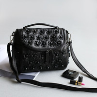 Leather Mosaic Simple Design Vintage Bags Shoulder Bags [4915807940]