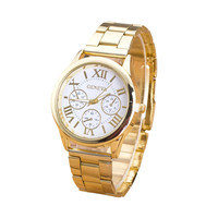 Watch Women Top Brand Roman Numerals Quartz Watch Luxury Gold Band Stainless Steel Women Wrist Watches montre femme Reloj