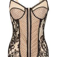 Rosamosario|Vanessa P lace and tulle bodysuit|NET-A-PORTER.COM