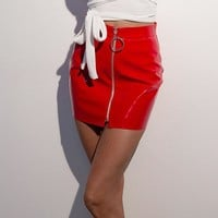 Fashion Women Slim Zipper Skirts