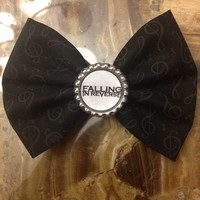 Falling In Reverse Fabric Hair Bow/Bow Tie