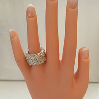 Mothers Day Ideal Gift-- Fine Sterling Silver Modern Wrapped Ring. Perfect for Moms!