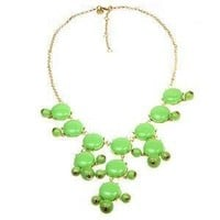 Kelly Green Bubble Statement Necklace