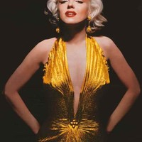Marilyn Monroe Gold Dress Poster 24x36