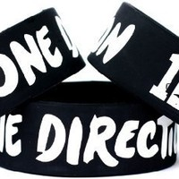 """I Love One Direction Band One Inch Wristband Wide 1"""""""