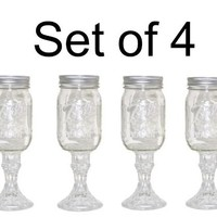 Wine Glass Stemware, Set of 4