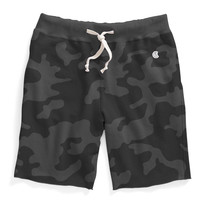 Cut Off Sweat Shorts in Black Camo