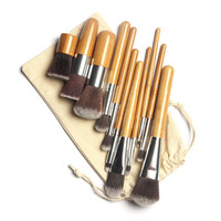 [BIG SALE] on 11 Piece Wooden Handle Makeup Brush Set