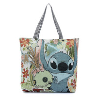 Lilo and Stich Family together Artistic Handbag grocery shopping picnic casual bag