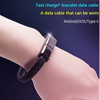 Explosive creative data cable suitable for Apple bracelet charging cable gifts
