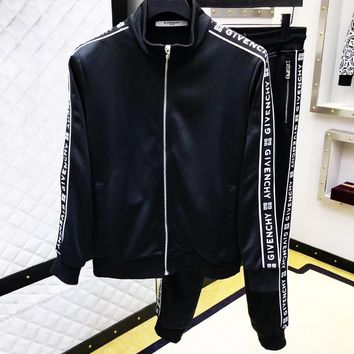 Givenchy Tide brand men and women webbing cardigan sweater casual pants two-piece