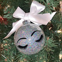 Lash Brow Glitter Ornament