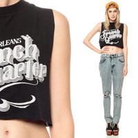 NEW ORLEANS Shirt 80s CROPPED Tank Top French Quarter by ShopExile