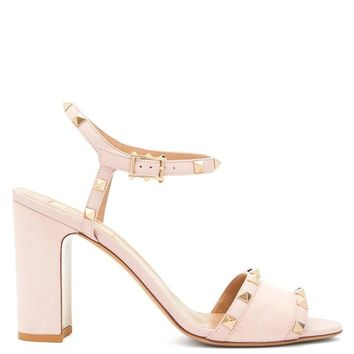 Rockstud block-heel suede sandals | Valentino | MATCHESFASHION.COM US