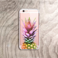 Pineapple iPhone 6s Case Pineapple iPhone 6 Case Clear Summer iPhone Cases iPhone 6s Plus Case Transparent Samsung Galaxy Note 5 Case Fruit