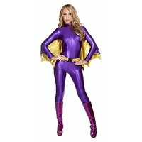Sexy Purple and Gold Batlady Halloween Costume