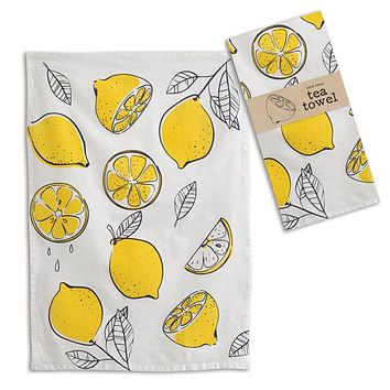 Lemons Tea Towel - Box of 4